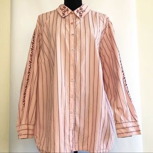 VTG Western Inspired Button Front Shirt Size 2X